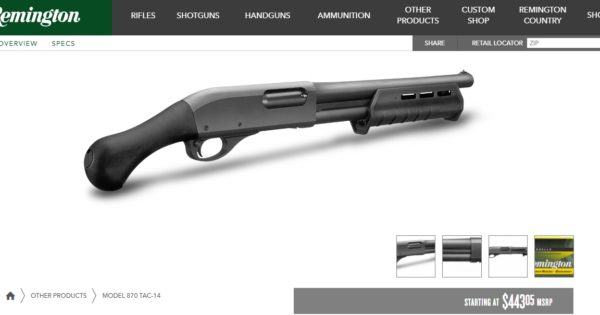 Is the Remington 870 TAC-14 Legal in Oregon? - Romano Law